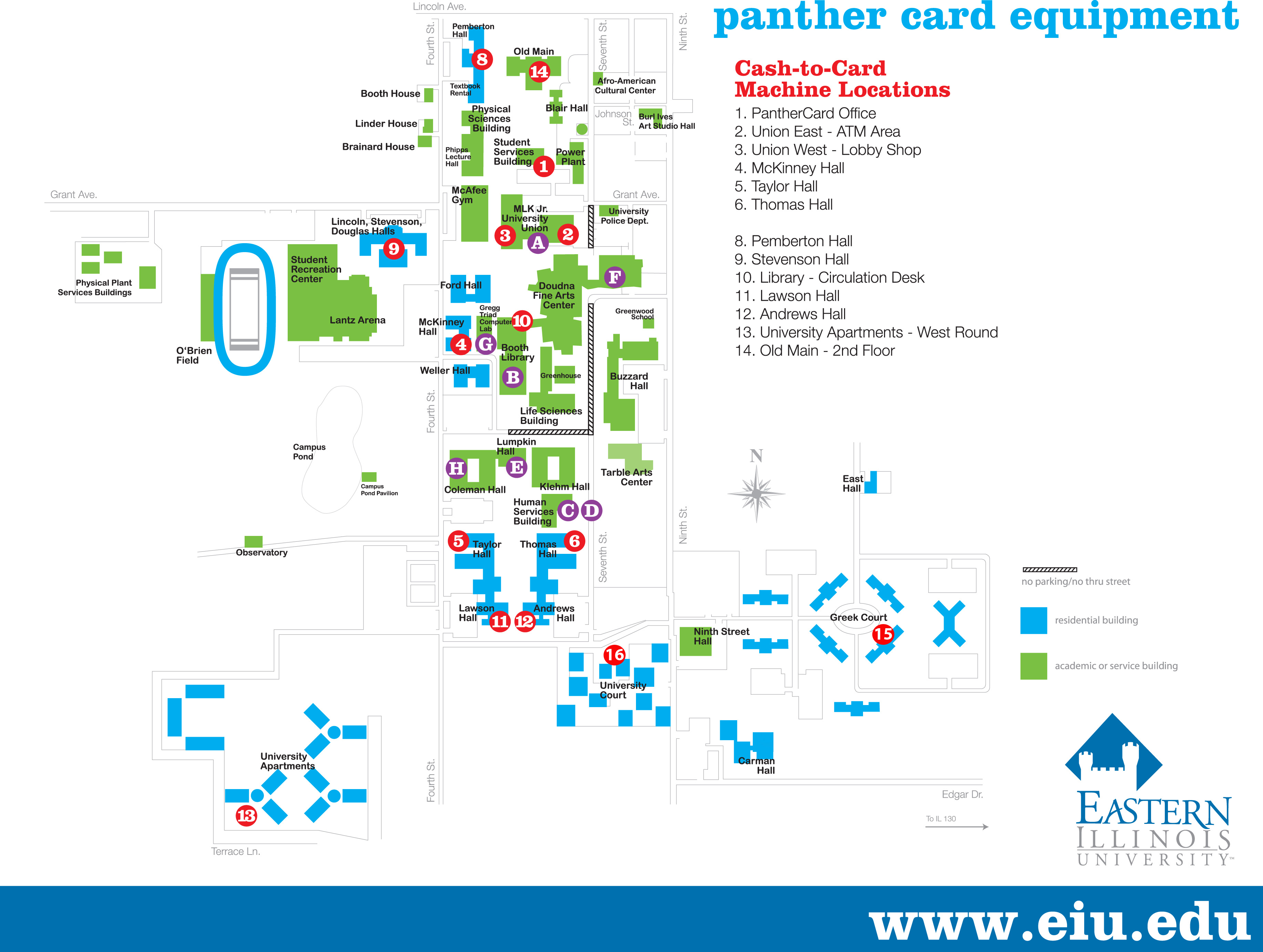 Eastern Illinois University :: Panther Card Office   Equipment Map