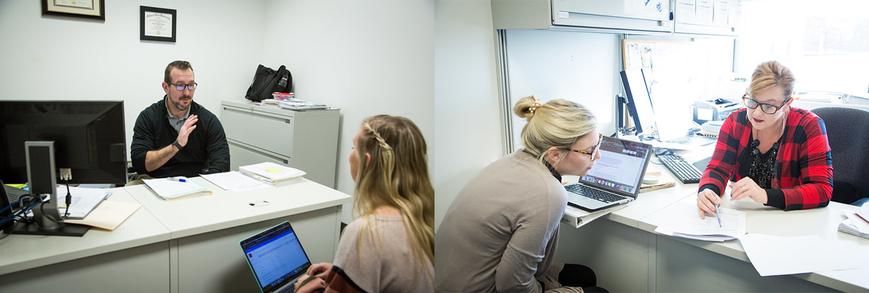 Faculty have an open-door policy in the Communication Disorders program at EIU.
