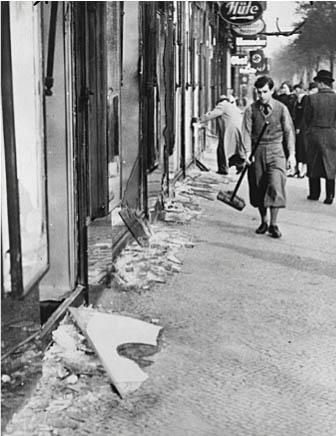 Berlin Jewish shop owners and wreckage
