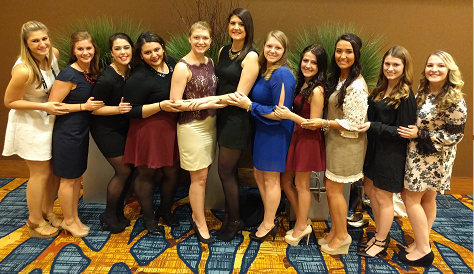 EIU Panhellenic Delegation at the 2016 AFLV Conference in Indianapolis, IN.
