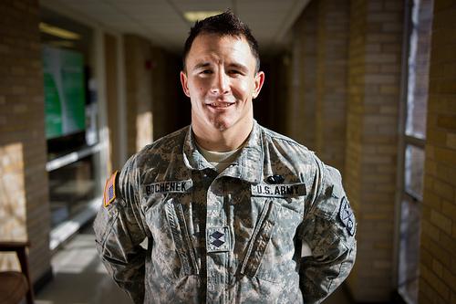 EIU ROTC Cadet Matthew Bochenek